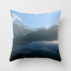 Mountains at Sunrise Poon Hill Throw Pillow