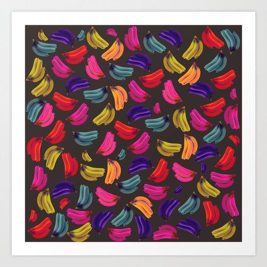 Bananas Coloridas Art Print