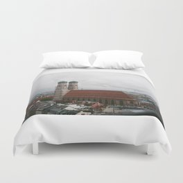 Rainy day in Munich Duvet Cover