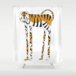 Long legs Tiger Shower Curtain