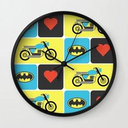 The Bike & The Bat Wall Clock