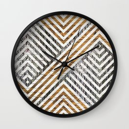 Geometric Wooden texture pattern Wall Clock