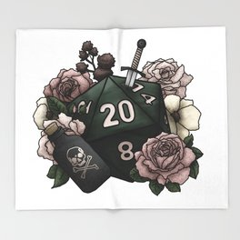 Rogue Class D20 - Tabletop Gaming Dice Throw Blanket