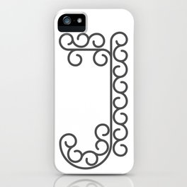 "Letter ""J"" in beautiful design Fashion Modern Style iPhone Case"