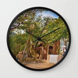 12,000pixel-500dpi - Friedrich Loos - Motif from Oberschutzen - Digital Remastered Edition Wall Clock