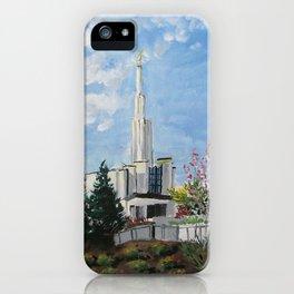 Atlanta Georgia LDS Temple Day iPhone Case