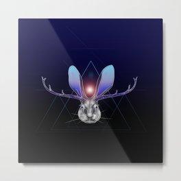 Cosmic Jackalope Metal Print