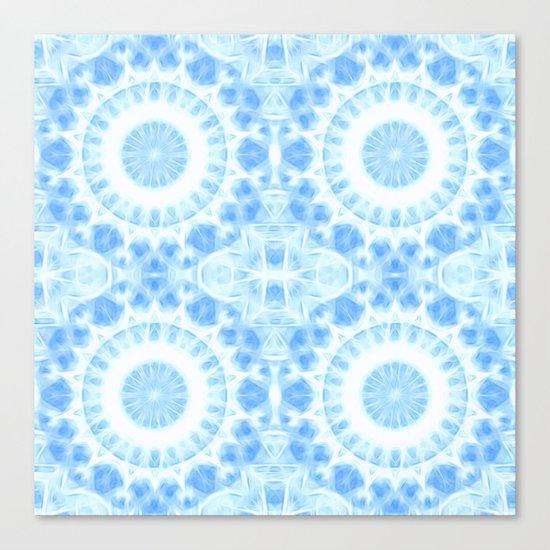 Peaceful blue mandala Canvas Print