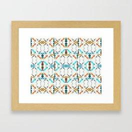 Small Irregular Shapes Pattern Framed Art Print