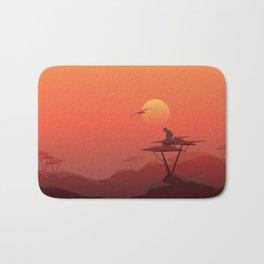 African sunset Bath Mat