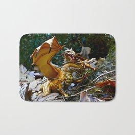 Golden Dragons Nest Bath Mat