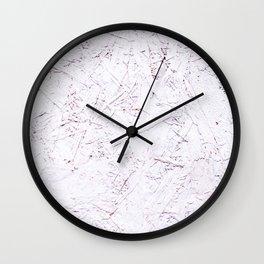 White Chipboard Wall Clock