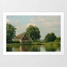 Landscape Broek in Waterland Art Print