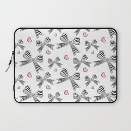 Pink bow heart Laptop Sleeve