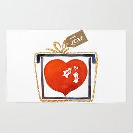 I give you my heart Rug