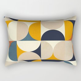 mid century abstract shapes fall winter 1 Rectangular Pillow