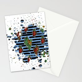 Australian Native Florals Graphic Splotch Stationery Cards