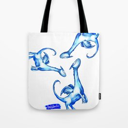 Daily Doodles - Blue dragons Tote Bag