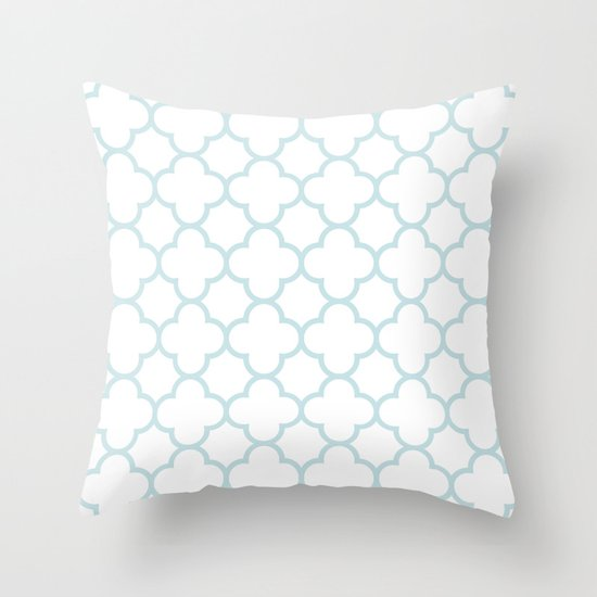 MOROCCAN {LIGHT BLUE} Throw Pillow by N A T Society6