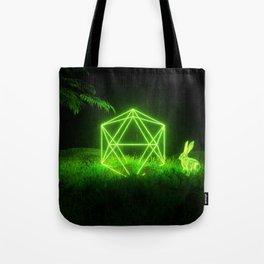 Icosahedron Hare Tote Bag