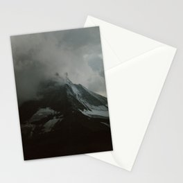 The Zermatt Matterhorn Under Storm Clouds Stationery Cards