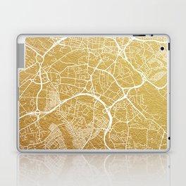 Gold Leeds map Laptop & iPad Skin