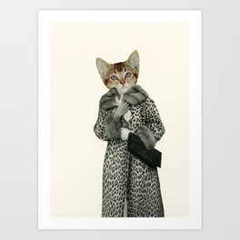 Kitten Dressed as Cat Art Print