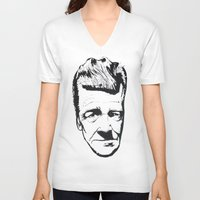 lynch V-neck T-shirts featuring David Lynch by Black Neon