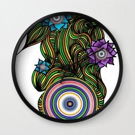 Flower Power Wheel Wall Clock