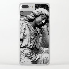 Angel Of The Mourning Clear iPhone Case