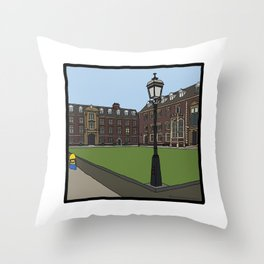 Cambridge stuggles: St Catherine's Throw Pillow