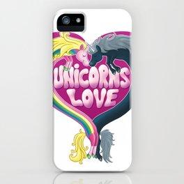 Unicorns Love iPhone Case