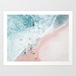Ocean Pink Swirl Art Print