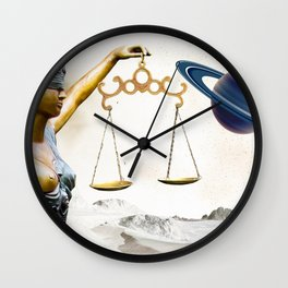 Lady Justice in the New World Wall Clock
