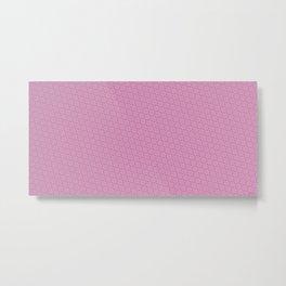 Cool patterns ~ THX 1138 Pink Metal Print