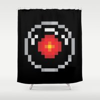 2001 Shower Curtains featuring 2001: A Pixel Odyssey by Eric A. Palmer