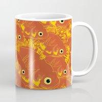 goldfish Mugs featuring Goldfish by Monty