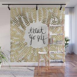 Treat Yo Self – Gold Wall Mural