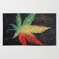 marijuana Area & Throw Rugs featuring Marijuana by Michael Creese