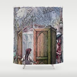 Lucy's Discovery Shower Curtain