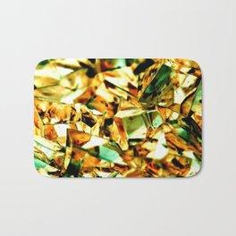 Golden and Green Chrystal Glass Abstract Bath Mat