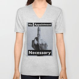 No Appointment Necessary (Blk) Unisex V-Neck