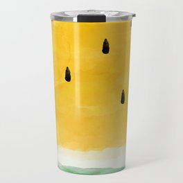 Yellow Watermelon Abstract Travel Mug