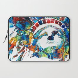 Colorful Statue Of Liberty - Sharon Cummings Laptop Sleeve