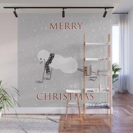 Snowman yoga - Planck Wall Mural