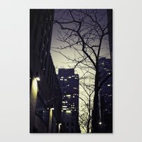 30 rock Canvas Prints featuring Morning  at 30 Rock by Benjamin Hunter