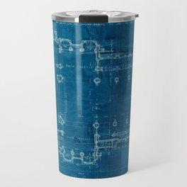Church Floor Plan Blueprint Travel Mug
