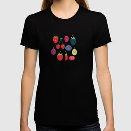 Kawaii Cherry Strawberry Raspberry Blackberry Blueberry Cranberry Cowberry Goji Grape T-shirt