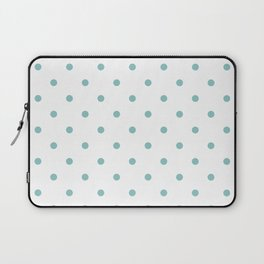 Chalky Blue Small Polka Dots Laptop Sleeve