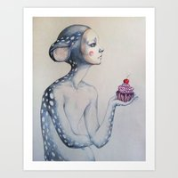 once upon a  time Art Prints featuring Once upon a time... by Zina Nedelcheva